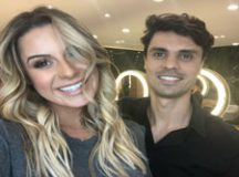 Anderson BB e a ex-Panicat Aricia Silva. Foto: MF Press Global