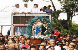 Todos os anos é realizada a Festa de Nossa Senhora dos Navegantes. Foto: Thiago Benedetti/PMD