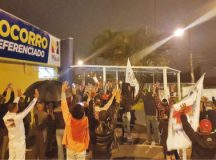 Ontem foi realizado protesto na porta do Nardini, que contou com apoio de vários sindicatos. Foto: Divulgação