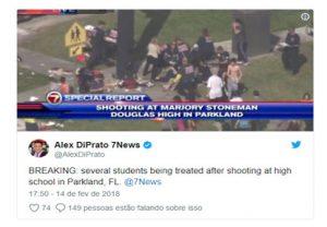 Ataque a tiros deixa 17 mortos em escola na Flórida