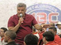 """Santana:  """"Vamos mostrar a resistência da classe trabalhadora """". Foto: Adonis Guerra/SMABC"""