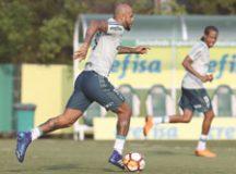 Felipe Melo retorna à equipe após cumprir suspensão na final do Paulistão. Cesar Greco/Agência Palmeiras