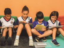 Concentração e interesse pelos livros é rotina na Sala de Leitura da EMEF Sylvio Romero. Foto: Divulgação/PMSCS
