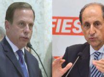 Doria tem 24% das intenções de votos e Skaff, 19%. Fotos: Arquivo