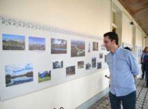 Prefeito Paulo Serra, durante abertura da exposição. Foto: Ricardo Trida/PSA