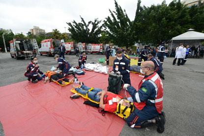 Em São Bernardo, 1º Congresso de Urgência e Emergência é encerrado com simulado de Operação Resgate