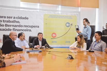 São Bernardo alcança nota  B+ em avaliação de crédito da Caixa Econômica