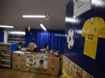 Programação tem campeonato de futebol de botão, futebol cooperativo e gincana sobre a Copa do Mundo, além de atividades de recreação. Foto: Divulgação