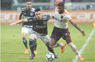 Com briga no fim, Palmeiras empata com Flamengo
