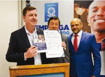 Morando assinou ontem convênio com o Senac da cidade. Foto: Gabriel Inamine/PMSBC