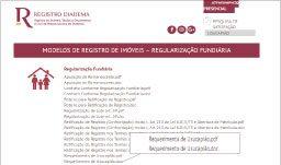 Novo site do cartório disponibiliza diversos serviços, dentre os quais, modelos de requerimento. Foto: Reprodução/Site