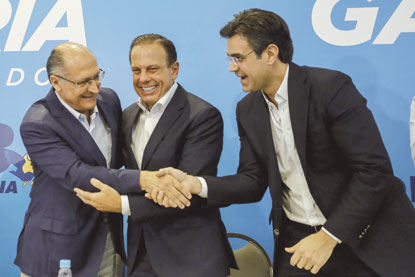 Geraldo Alckmin aparece com João Doria para anúncio de vice