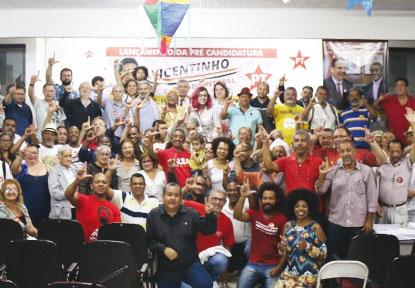 Vicentinho projeta 'campanha de militância'