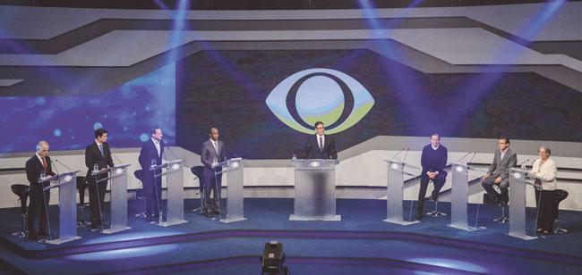 João Doria é alvo de adversários durante debate