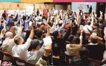 Bancários aprovaram reajuste obtido na décima rodada de negociações com a Fenaban. Foto; Divulgação/Bancários ABC