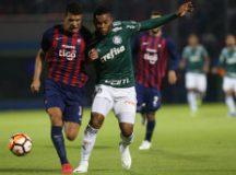 Borja mostrou oportunismo e anotou os dois gols do Palmeiras no Paraguai.  Foto: Cesar Greco/Agência Palmeiras
