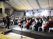 O ponto alto da Maratona foi a estreia da Orquestra da Nova Casa da Música, realizada sábado (4), no Shopping Praça da Moça. Foto: Marcos Luiz/PMD