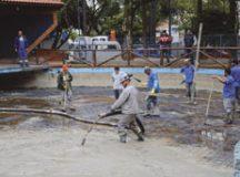Lago passou a ser totalmente concretado. Foto: Divulgação/PMSCS