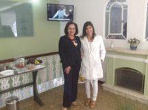 Marilza Nagasawa e Daniella Maia, durante evento na clínica. Foto: Angelica Richter especial para o DR