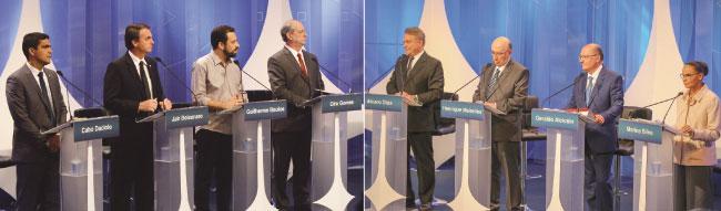 Bolsonaro e Marina elevam tensão em debate