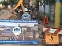 Obras são executadas pela BRK Ambiental em vários bairros do município, que foi um dos que mais recebeu investimentos no setor na região metropolitana de São Paulo. Foto: Divulgação