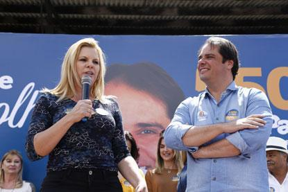 Fabio Palacio e Carla Morando  lançam campanha em São Caetano