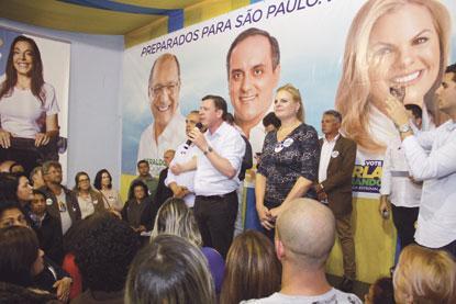 Carla Morando e Marcelo Lima inauguram comitê central em São Bernardo