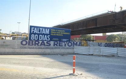 São Bernardo entregará viaduto da Praça dos Bombeiros em 80 dias
