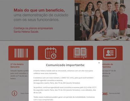 Pacientes do convênio Santa Helena Saúde não conseguem marcar exames e consultas